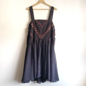 Anthropologie Maeve Haifa Purple Midi Dress large